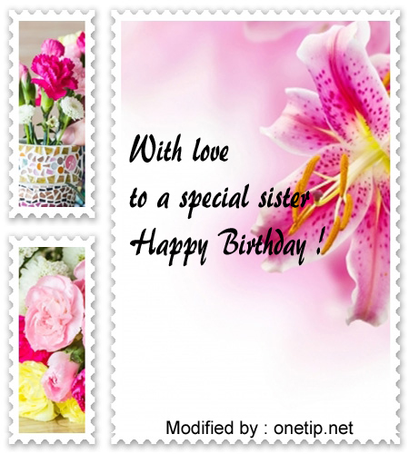 Birthday Sister Birthday Card Verses - Craftsuprint