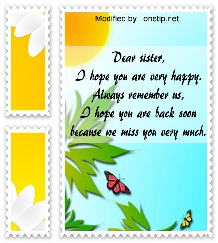 beautiful i miss you texts for my sister,i love you messages for sister