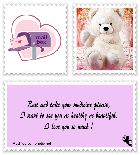 Wordings For A Sick Girlfriend | Sweet get well soon Love