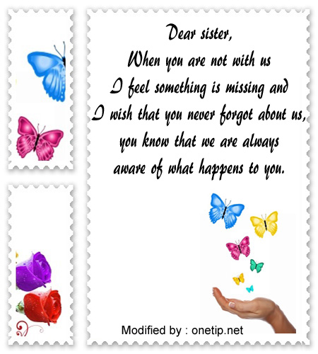 Beautiful I Miss You Texts & Cards For My Sister | I Love My ...